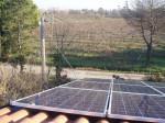 Impianto fotovoltaico nella campagna faentina